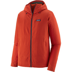 Patagonia R1 TechFace Pull à capuche Homme, hot ember